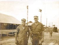 John Murtha with Sgt. Lehmer at DaNang Airbase in Vietnam, 1966.