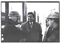 John Murtha visiting steel workers, 1974.