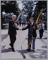 John Murtha with Legionnaires at a Manor Township Parade, 2000s.