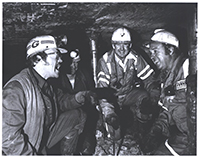 John Murtha accompanying miners, 1978.