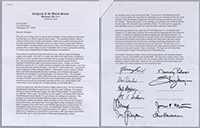 Letter addressed to George W. Bush in which John Murtha and other members of Congress express concern about the war in Iraq, 2006