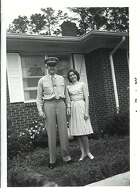John and Joyce Murtha outside of their home, 1960s.