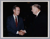John Murtha with President George H.W. Bush, c. 1980s.