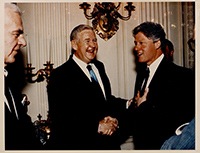 John Murtha and President Bill Clinton. 1990s.