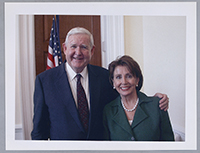 John Murtha with Speaker of the House Nancy Pelosi, who often worked alongside Murtha with regard to defense issues, 2000s.