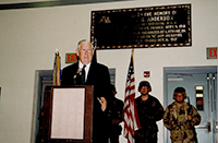 John Murtha speaking at the dedication of the Latrobe and Derry Armory. 2002.